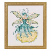 March Aquamarine Fairy Kit Cross Stitch Chart Fabric Beads Braid MD159 Mirabilia Nora Corbett