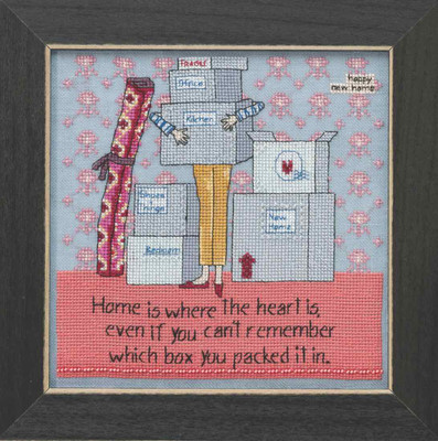 Where The Heart Is Beaded Cross Stitch Kit Curly Girl 2018 Mill Hill CG301811
