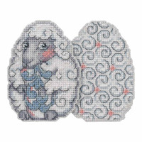 Sheep Egg Counted Cross Stitch Easter Kit Mill Hill 2018 Jim Shore JS181815