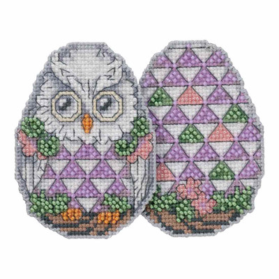 Owl Egg Counted Cross Stitch Easter Kit Mill Hill 2018 Jim Shore JS181814