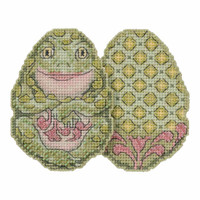 Frog Egg Counted Cross Stitch Easter Kit Mill Hill 2018 Jim Shore JS181811