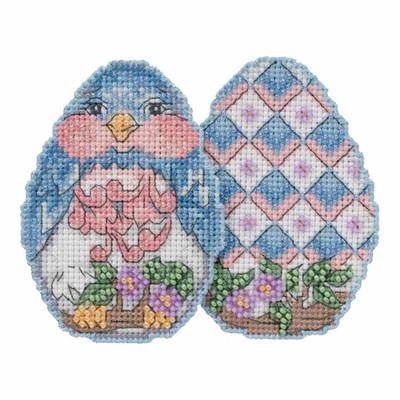 Bluebird Egg Counted Cross Stitch Easter Kit Mill Hill 2018 Jim Shore JS181816