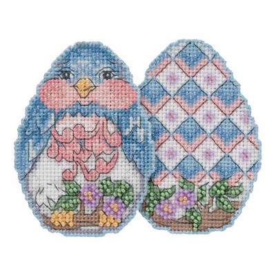 Bluebird Egg Counted Cross Stitch Easter Kit Mill Hill 2018 Jim Shore JS181816