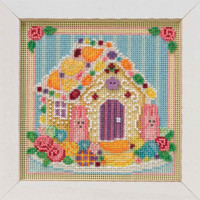 Sugar Cookie House Cross Stitch Kit Mill Hill 2019 Buttons & Beads Spring MH141914