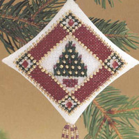 Petite Pine Tiny Treasured Diamond Ornament Kit Mill Hill 1997