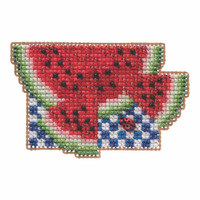 Watermelon Beaded Cross Stitch Kit Mill Hill 2019 Spring Bouquet MH181914
