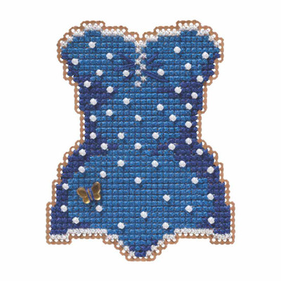 Swimsuit Beaded Cross Stitch Kit Mill Hill 2019 Spring Bouquet MH181915