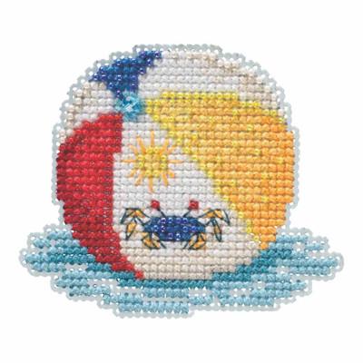 Beach Ball Beaded Cross Stitch Kit Mill Hill 2019 Spring Bouquet MH181916