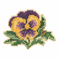 Tricolor Pansy Beaded Cross Stitch Kit Mill Hill 2019 Spring Bouquet MH181911