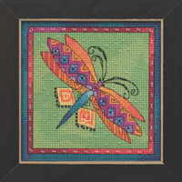 Dragonfly Lime Cross Stitch Kit Mill Hill 2019 Laurel Burch Flying Colors LB141915