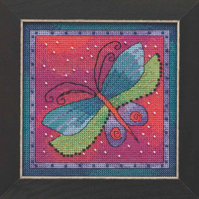 Dragonfly Fuchsia Cross Stitch Kit Mill Hill 2019 Laurel Burch Flying Colors LB141913