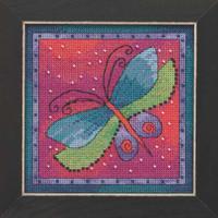 Dragonfly Fuchsia Cross Stitch Kit Mill Hill 2019 Laurel Burch Flying Colors LB141913