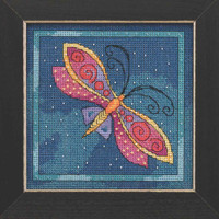 Dragonfly Capri Cross Stitch Kit Mill Hill 2019 Laurel Burch Flying Colors LB141911