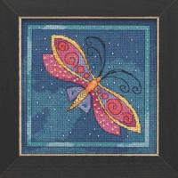 Dragonfly Capri Cross Stitch Kit Mill Hill 2019 Laurel Burch Flying Colors LB141911