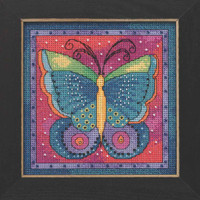 Butterfly Fuchsia Cross Stitch Kit Mill Hill 2019 Laurel Burch Flying Colors LB141916