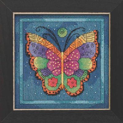 Butterfly Capri Cross Stitch Kit Mill Hill 2019 Laurel Burch Flying Colors LB141914