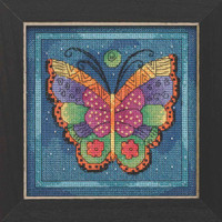 Butterfly Capri Cross Stitch Kit Mill Hill 2019 Laurel Burch Flying Colors LB141914
