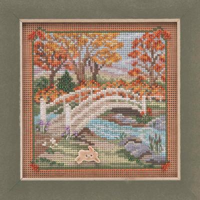 Foot Bridge Cross Stitch Kit Mill Hill 2019 Buttons & Beads Autumn MH141925
