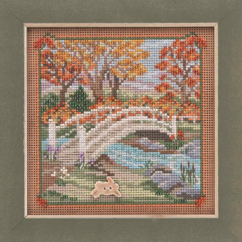 Foot Bridge Cross Stitch Kit Mill Hill 2019 Buttons