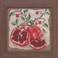 Pomegranates Cross Stitch Kit Mill Hill 2019 Buttons & Beads Autumn MH141926