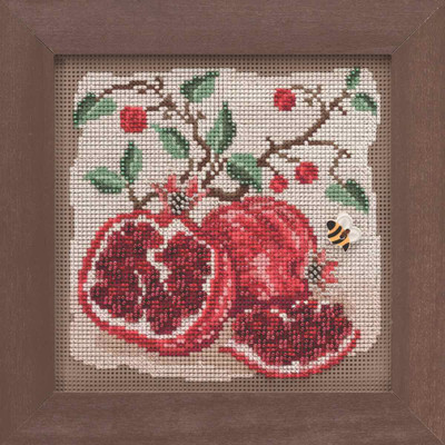 Pomegranates Cross Stitch Kit Mill Hill 2019 Buttons & Beads Autumn MH141926