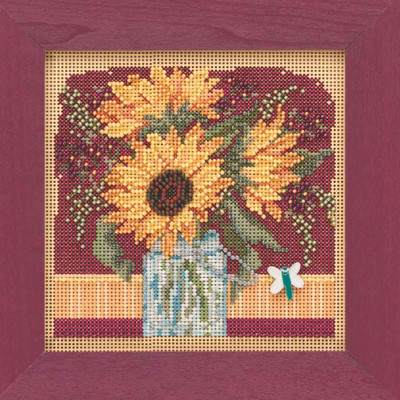 Sunflower Bouquet Cross Stitch Kit Mill Hill 2019 Buttons & Beads Autumn MH141924