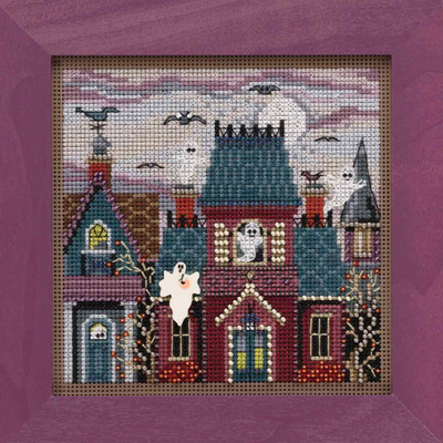 Ghost Town Cross Stitch Kit Mill Hill 2019 Buttons & Beads Autumn MH141923