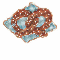 Pretzel Beaded Cross Stitch Kit Mill Hill 2019 Autumn Harvest MH181926