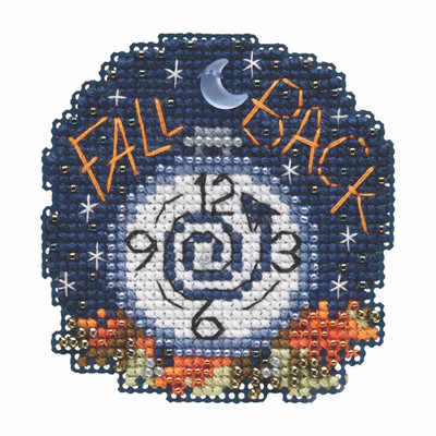 Fall Back Beaded Cross Stitch Kit Mill Hill 2019 Autumn Harvest MH181922