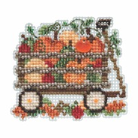 Harvest Wagon Beaded Cross Stitch Kit Mill Hill 2019 Autumn Harvest MH181924