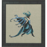 Miss Beetle Kit Cross Stitch Chart Beads Braid Nora Corbett Mirabilia Designs NC259