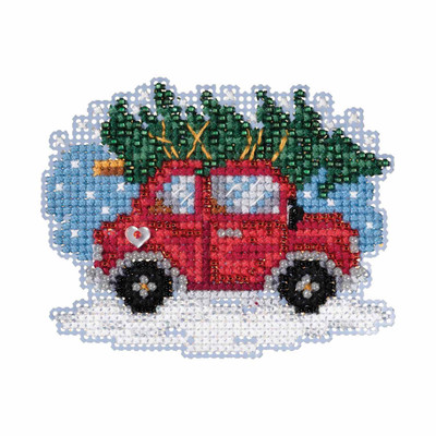Tree Shopping Cross Stitch Ornament Kit Mill Hill 2019 Winter Holiday MH181931
