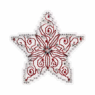 Filigree Star Cross Stitch Ornament Kit Mill Hill 2019 Winter Holiday MH181932