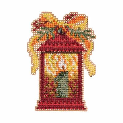 Christmas Lantern Cross Stitch Ornament Kit Mill Hill 2019 Winter Holiday MH181934