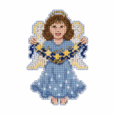 Celestial Angel Cross Stitch Ornament Kit Mill Hill 2019 Winter Holiday MH181936