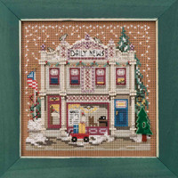 Daily News Cross Stitch Kit Mill Hill 2019 Buttons Beads Winter MH141934