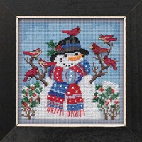 Winter Welcome Cross Stitch Kit Mill Hill 2019 Buttons Beads Winter MH141931