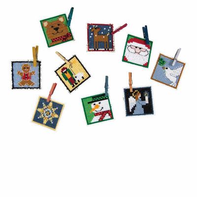Advent Trilogy Set One Beaded Cross Stitch Ornaments Kit 2019 Mill Hill MH191911