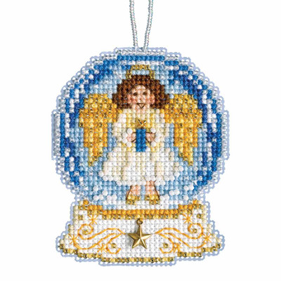 Angel Snow Globe Beaded Counted Cross Stitch Kit Mill Hill 2019 Ornament MH161935