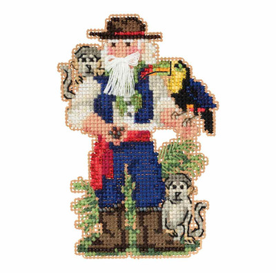 Amazon Santa Cross Stitch Ornament Kit Mill Hill 2019 South American Santas MH201933
