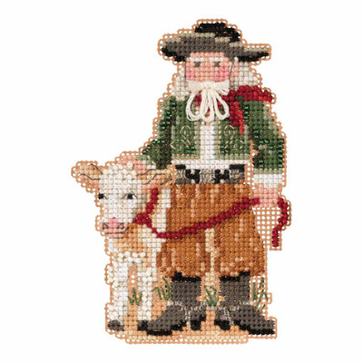 Pampas Santa Cross Stitch Ornament Kit Mill Hill 2019 South American Santas MH201931