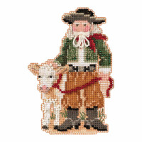 Pampas Santa Cross Stitch Ornament Kit Mill Hill 2019 South American Santas MH201931