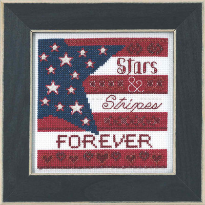 Stars and Stripes Beaded Cross Stitch Kit Mill Hill 2019 Patriotic Quartet MH171911