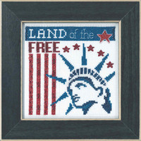 Land of the Free Beaded Cross Stitch Kit Mill Hill 2019 Patriotic Quartet MH171912