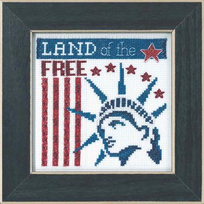 Land of the Free Beaded Cross Stitch Kit Mill Hill 2019 Patriotic Quartet MH171912