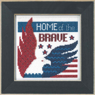 Home of the Brave Beaded Cross Stitch Kit Mill Hill 2019 Patriotic Quartet MH171913