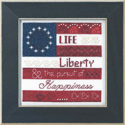 Life, Liberty Beaded Cross Stitch Kit Mill Hill 2019 Patriotic Quartet MH171914