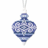 Sapphire Opal Beaded Cross Stitch Ornament Kit Mill Hill 2019 Beaded Holiday MH211915