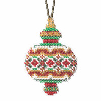 Ruby Diamond Beaded Cross Stitch Ornament Kit Mill Hill 2019 Beaded Holiday MH211913