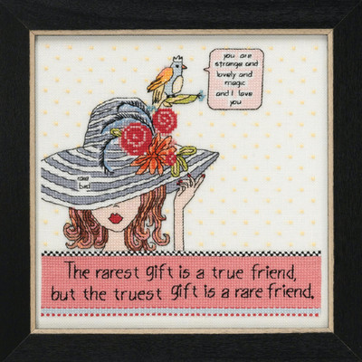 Rarest Friend Beaded Cross Stitch Kit Curly Girl 2019 Mill Hill CG301911